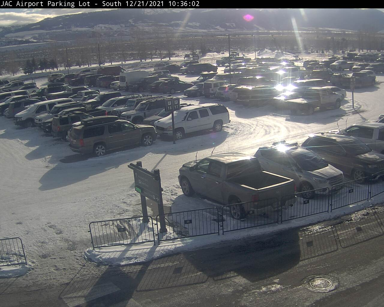 Jackson Hole Airport Webcam - South Parking Lot